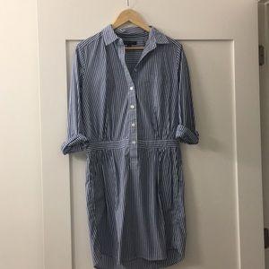 Striped shirt dress by Banana Republic